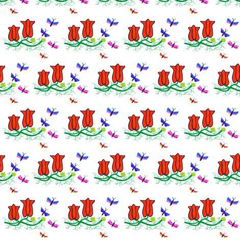 Flora Springtime fabric by angelgreen on Spoonflower - custom fabric