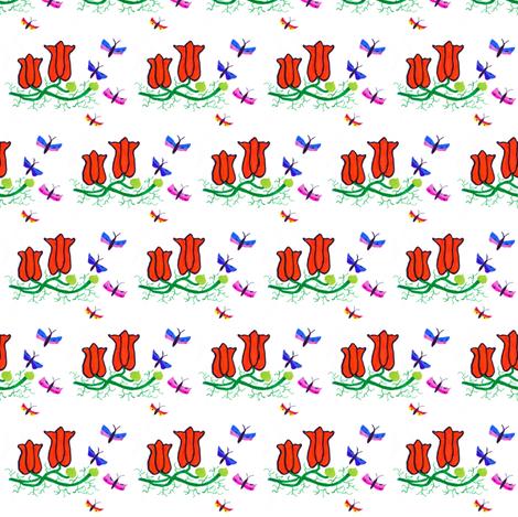 Flora Springtime fabric by angelgreen on Spoonflower - custom fabric