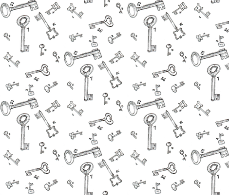 lucky keys fabric by mimi&me on Spoonflower - custom fabric