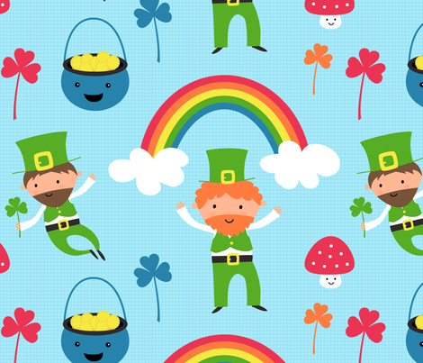 Cheeky Leprechauns fabric by zoel on Spoonflower - custom fabric