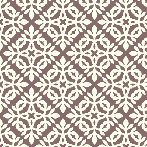 BROWN & cream mini-papercut2 fabric by mina on Spoonflower - custom fabric