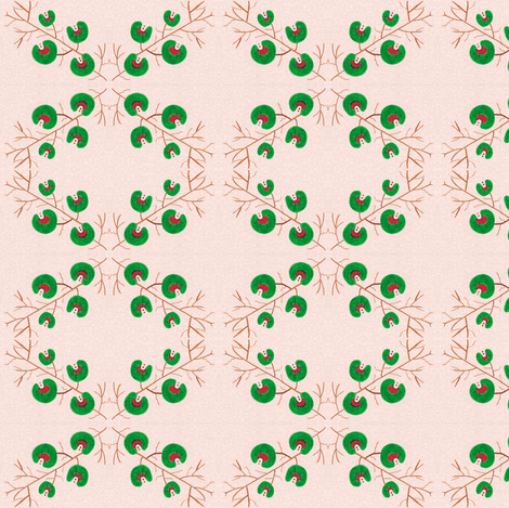 Flora Green Magic fabric by angelgreen on Spoonflower - custom fabric