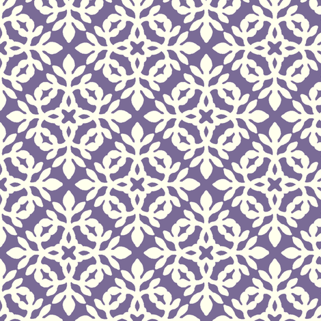 PURPLE & cream mini-papercut2 fabric by mina on Spoonflower - custom fabric