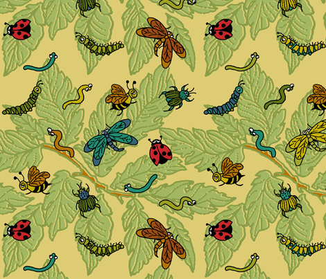 Bug-a-Boo_Boy_pattern fabric by gem_graphics on Spoonflower - custom fabric