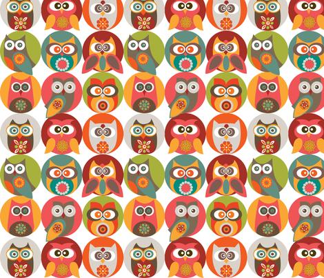 Owl family fabric by valentinaharper on Spoonflower - custom fabric