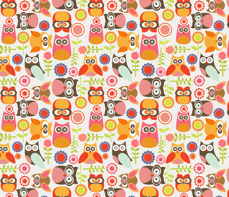 Cute little Owls fabric by valentinaharper on Spoonflower - custom fabric