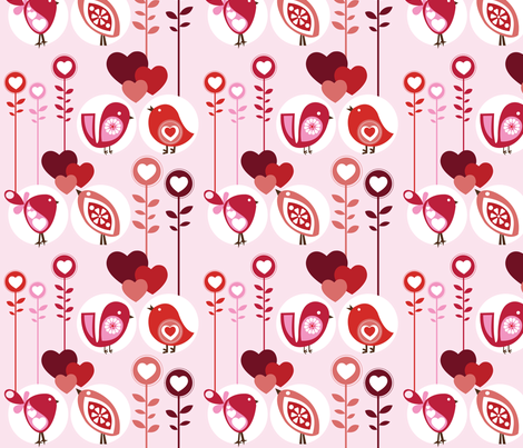 Lovely Birds fabric by valentinaramos on Spoonflower - custom fabric