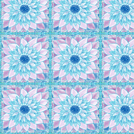 FlowerSquares_1 fabric by tallulahdahling on Spoonflower - custom fabric