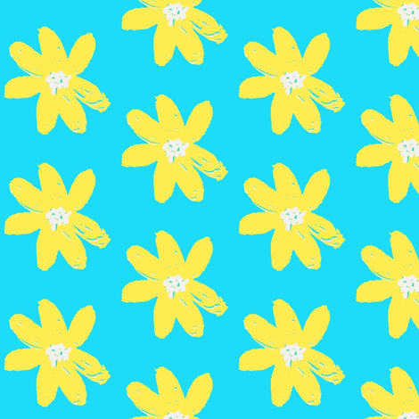 daisy  ©2012 Jill Bull fabric by palmrowprints on Spoonflower - custom fabric