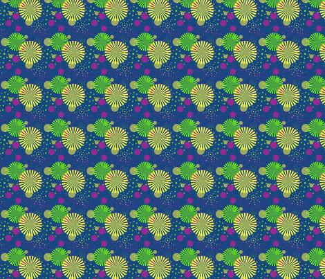 FIREWORKS PRINT fabric by rke on Spoonflower - custom fabric