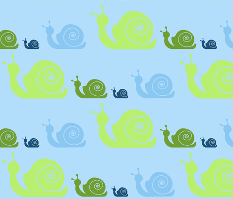 snails fabric by jomiwilliams on Spoonflower - custom fabric