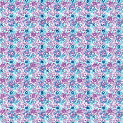 WeeFlowers fabric by tallulahdahling on Spoonflower - custom fabric