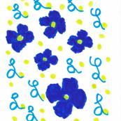 Flora Flower Blue