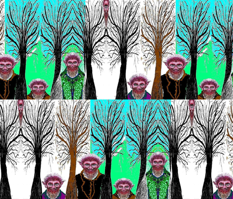 Jamjax Troll Tree Trollers fabric by jamjax on Spoonflower - custom fabric