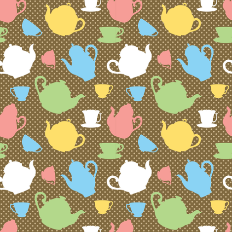 Tea time fabric by martinaness on Spoonflower - custom fabric