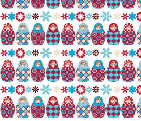 poupée_russe_graphic_vick fabric by nadja_petremand on Spoonflower - custom fabric