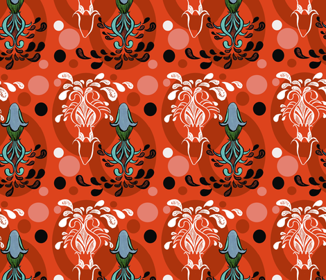 ELEGANT SUPER SQUID fabric by gsonge on Spoonflower - custom fabric