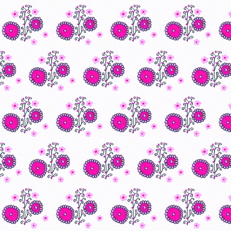 Flora Flower Lavia fabric by angelgreen on Spoonflower - custom fabric