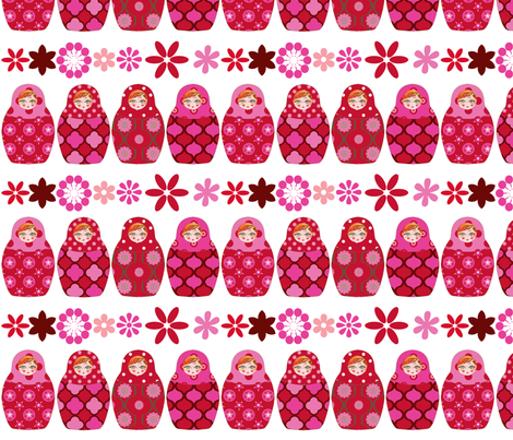 poupée_russe_graphic_vick_rose fabric by nadja_petremand on Spoonflower - custom fabric