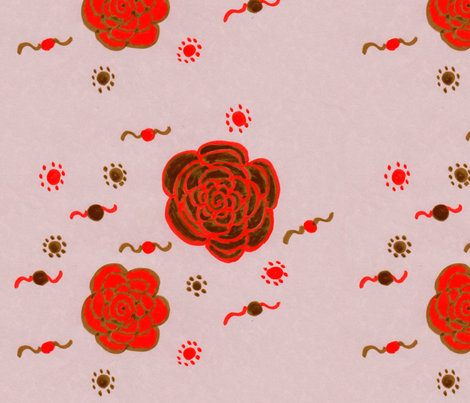 Flora Flower Bed of Roses fabric by angelgreen on Spoonflower - custom fabric