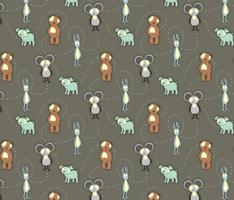 babyboyanimals fabric by renule on Spoonflower - custom fabric
