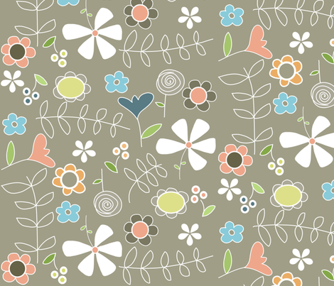 spring is coming fabric by emilyb123 on Spoonflower - custom fabric