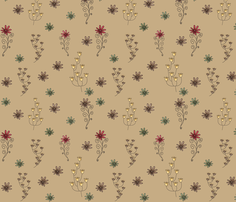 Wild fields around her fabric by catru on Spoonflower - custom fabric