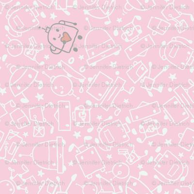 I Heart Robots Pink