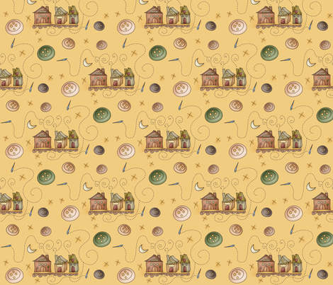 Her embroidery neighborhood fabric by catru on Spoonflower - custom fabric