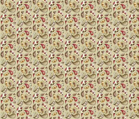 Her paisley teeny tiny ideas fabric by catru on Spoonflower - custom fabric