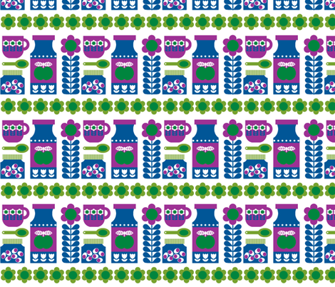 Spoon_Jar_blue fabric by aliceapple on Spoonflower - custom fabric