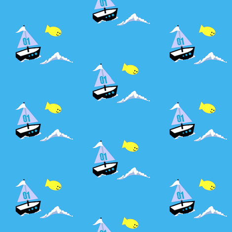 monkey island / boat fabric by paragonstudios on Spoonflower - custom fabric