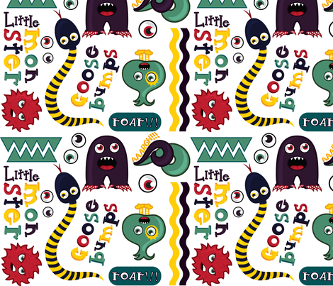 Monsters fabric by eedeedesignstudios on Spoonflower - custom fabric