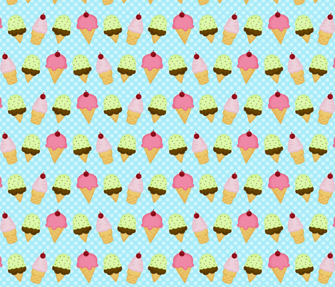 icecream blue dot fabric by bellamarie on Spoonflower - custom fabric