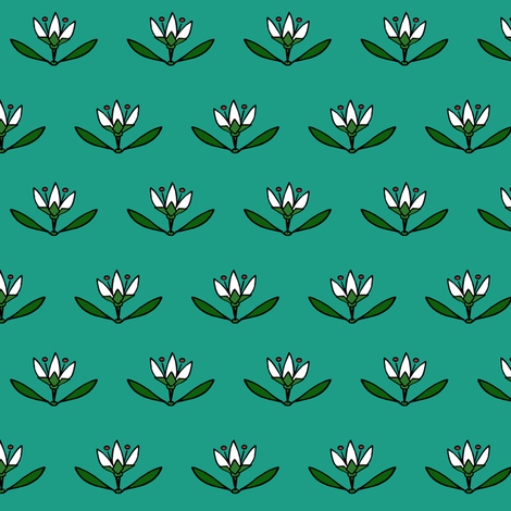 Lotus-Monster fabric by pond_ripple on Spoonflower - custom fabric