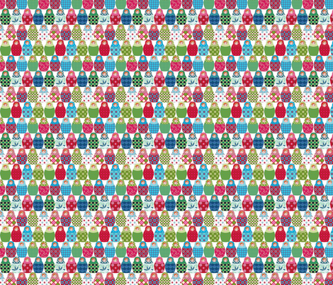 poupée_russe_S fabric by nadja_petremand on Spoonflower - custom fabric