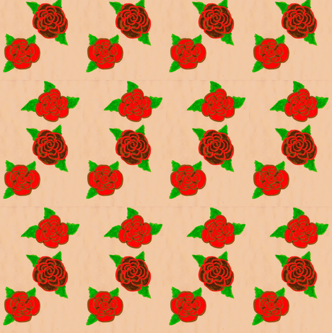Flora Flower Roses fabric by angelgreen on Spoonflower - custom fabric