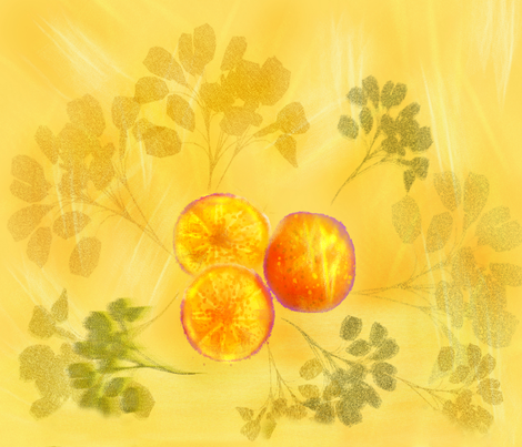 Sunny Day Oranges fabric by art2art on Spoonflower - custom fabric