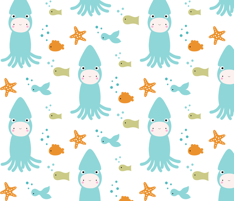 Dressed Like a Squid fabric by misstiina on Spoonflower - custom fabric