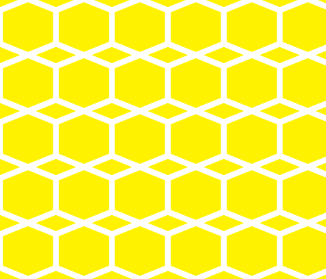 Modern Lattice Lemon fabric by dolphinandcondor on Spoonflower - custom fabric