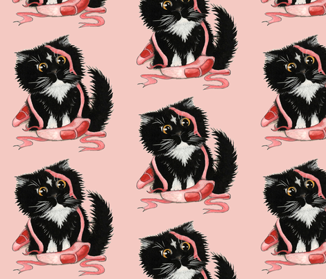 Ballerina Kitten fabric by amylynbihrle on Spoonflower - custom fabric