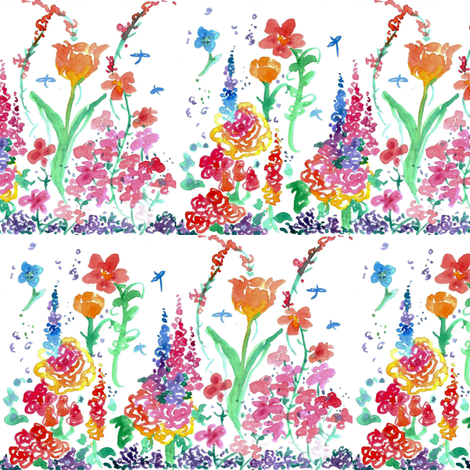 Spring Flower Garden fabric by countrygarden on Spoonflower - custom fabric