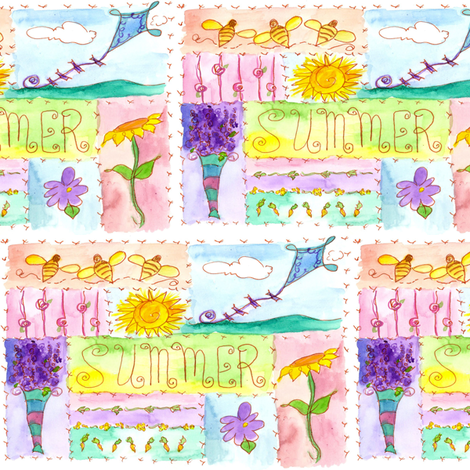 Summer Sampler fabric by countrygarden on Spoonflower - custom fabric