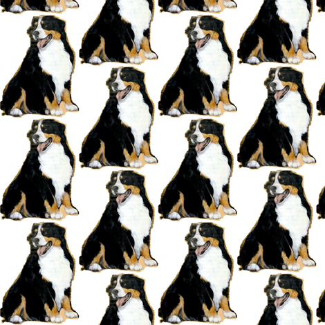 Bernese Mountain Dog fabric by altrincham on Spoonflower - custom fabric