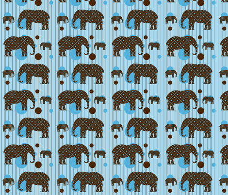 Blue Dot Elephant Plaid fabric by saraelizabeth on Spoonflower - custom fabric
