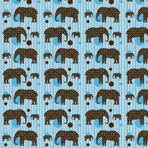 Blue Dot Elephant Plaid