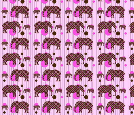 Pink Dot Elephant fabric by saraelizabeth on Spoonflower - custom fabric