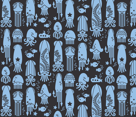 Wondersquids fabric by meliszawang on Spoonflower - custom fabric