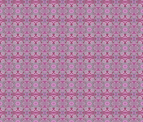 Tribal flowers pink magenta fabric by edsel2084 on Spoonflower - custom fabric
