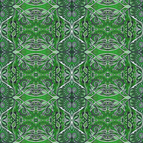 Green Bandana fabric by edsel2084 on Spoonflower - custom fabric